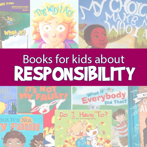 Books on responsibility for teaching social skills