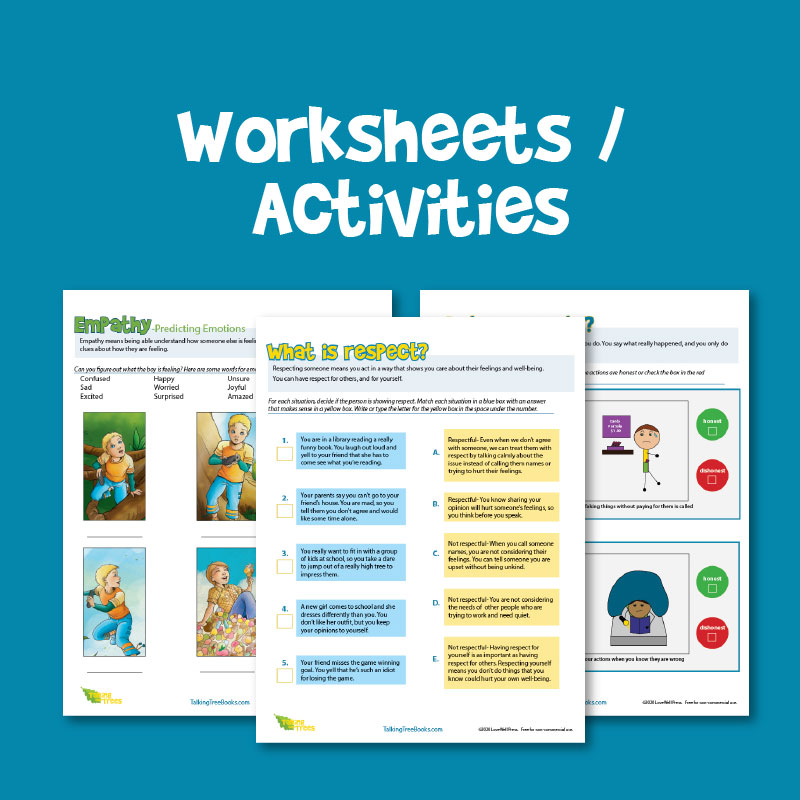 Free worksheets for social emotional learning and character education