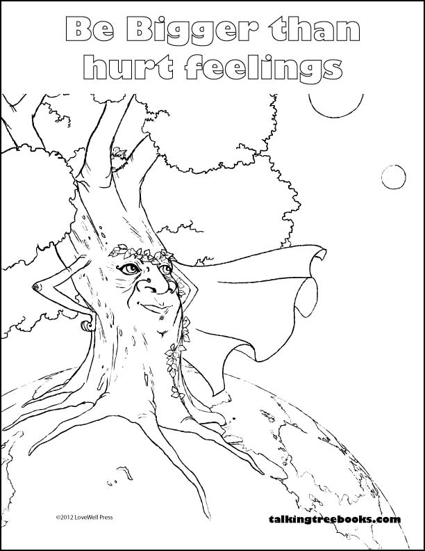 SEL Coloring Page- Be Bigger than Hurt Feelings
