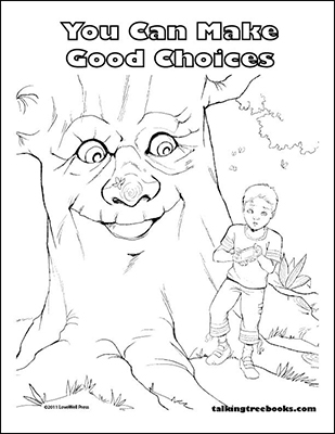 Good Choices Coloring Page based on Be Proud Children's Book for character education