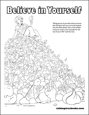 Self Esteem Coloring Page based on Be Proud Children's Social Emotional Development Book