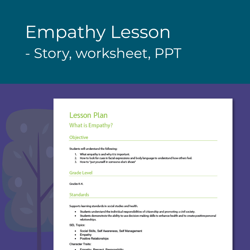 Empathy lesson plan for elementary social emotional learning