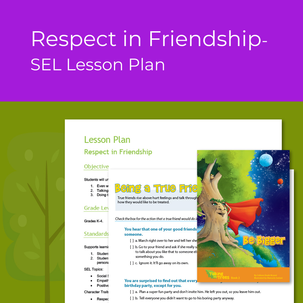 Respect / Perseverance lesson plan for kids SEL
