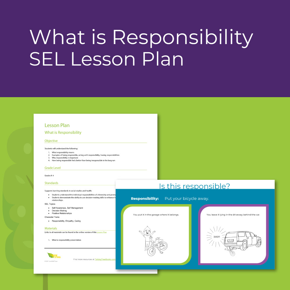 Responsibility lesson plan for elementary social emotional learning