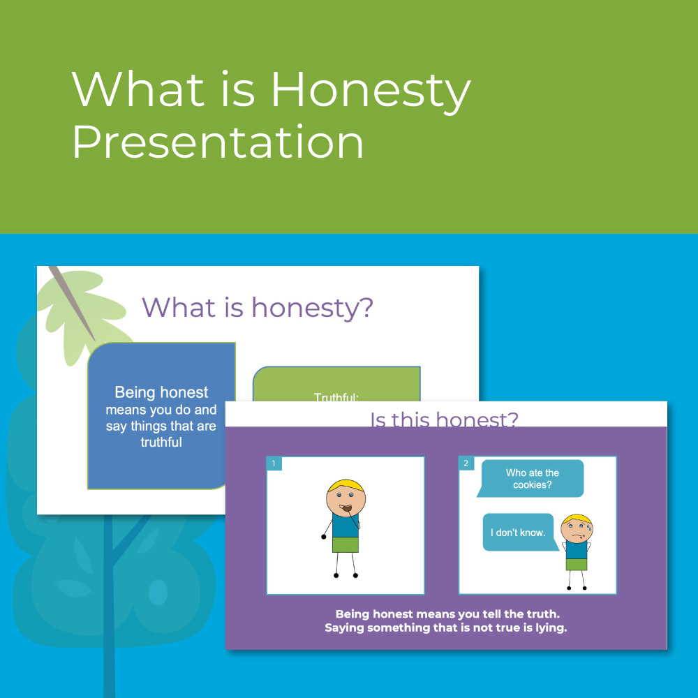 What is Honesty Kindergarten Presentation for Character Ed / SEL