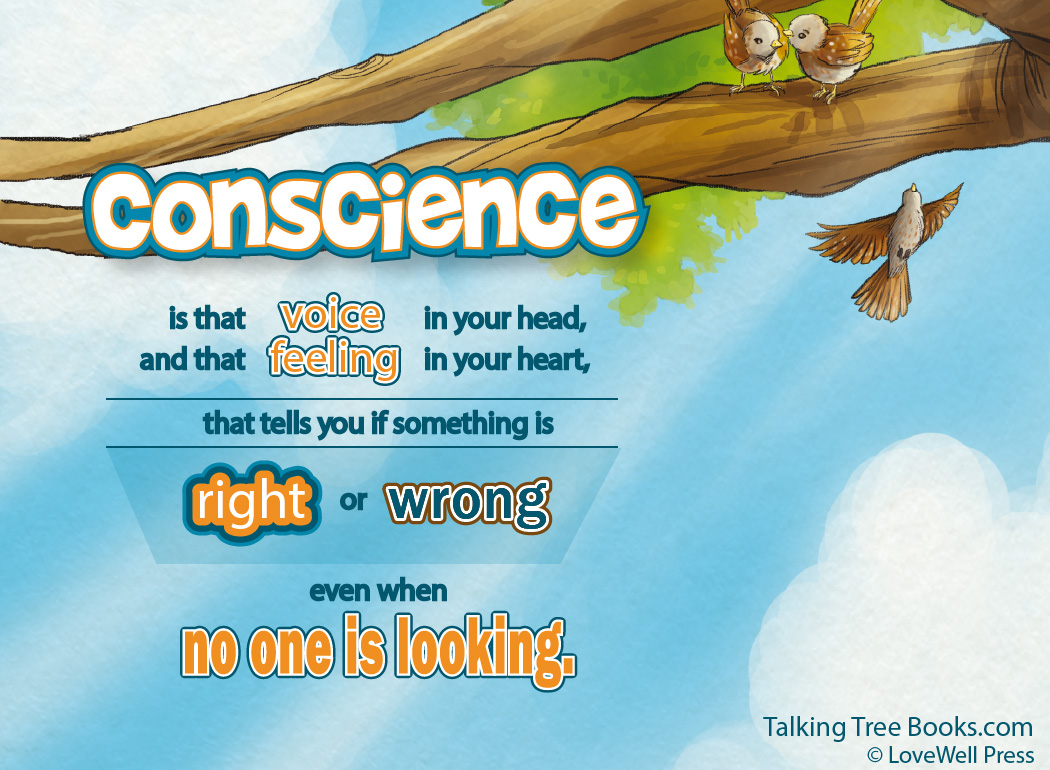 Conscience is the feeling in your heart... - Quote for kids social emotional learning