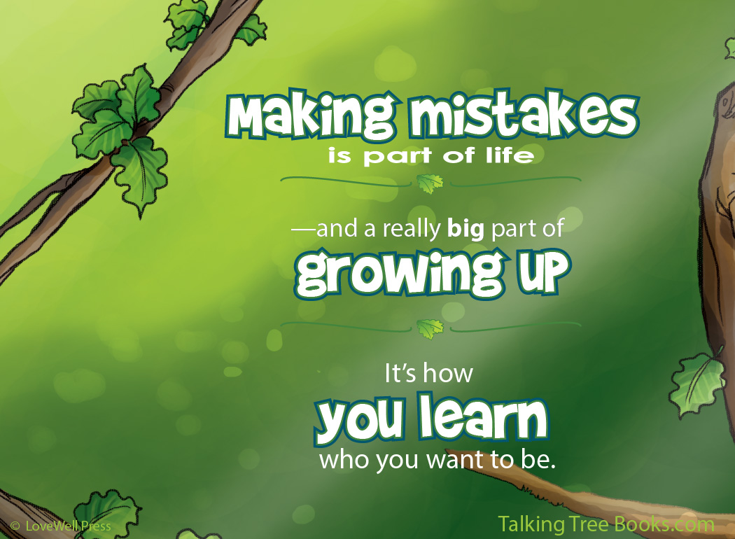 'Making mistakes is part of life...'- Positive quote for kids character and social emotional learning