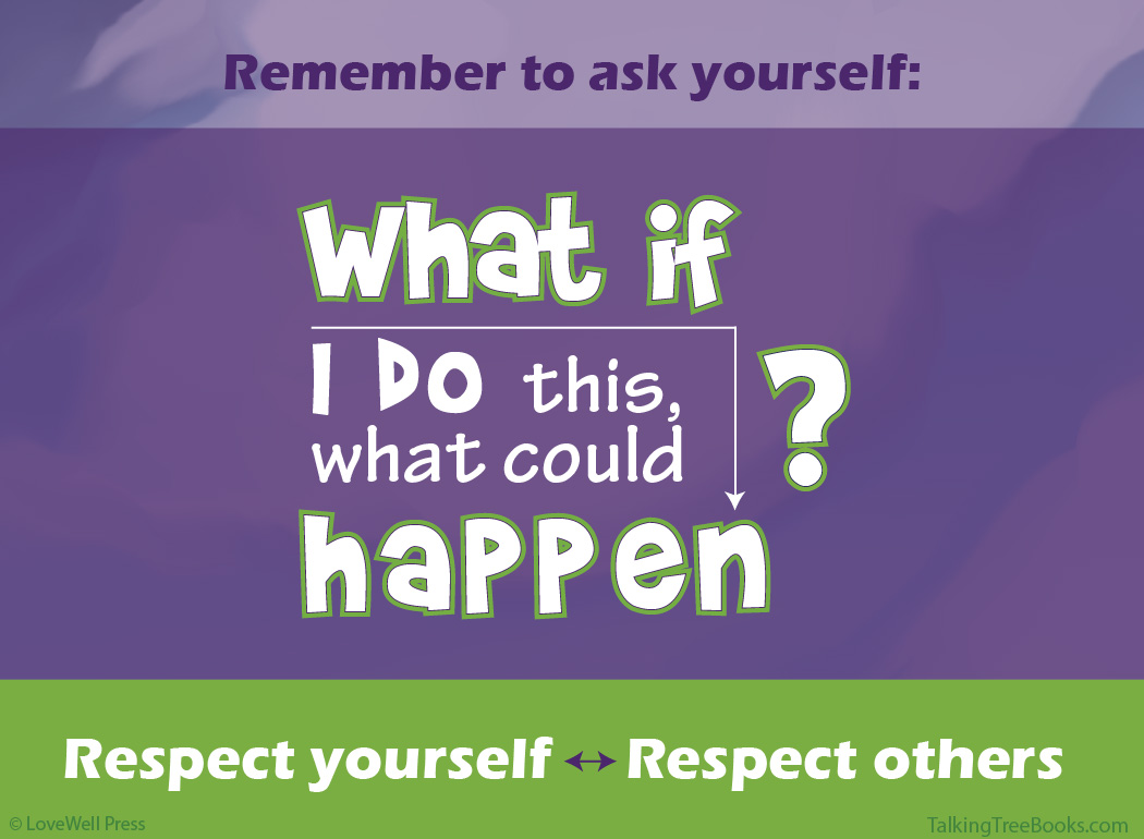 'What if I do this what could happen? Respect Yourself. Respect Others.'- Positive quote for kids SEL and character matters