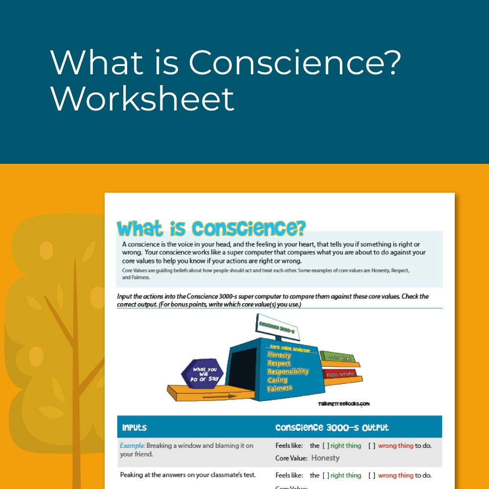 What is Conscience worksheet for social emotional learning elementary school
