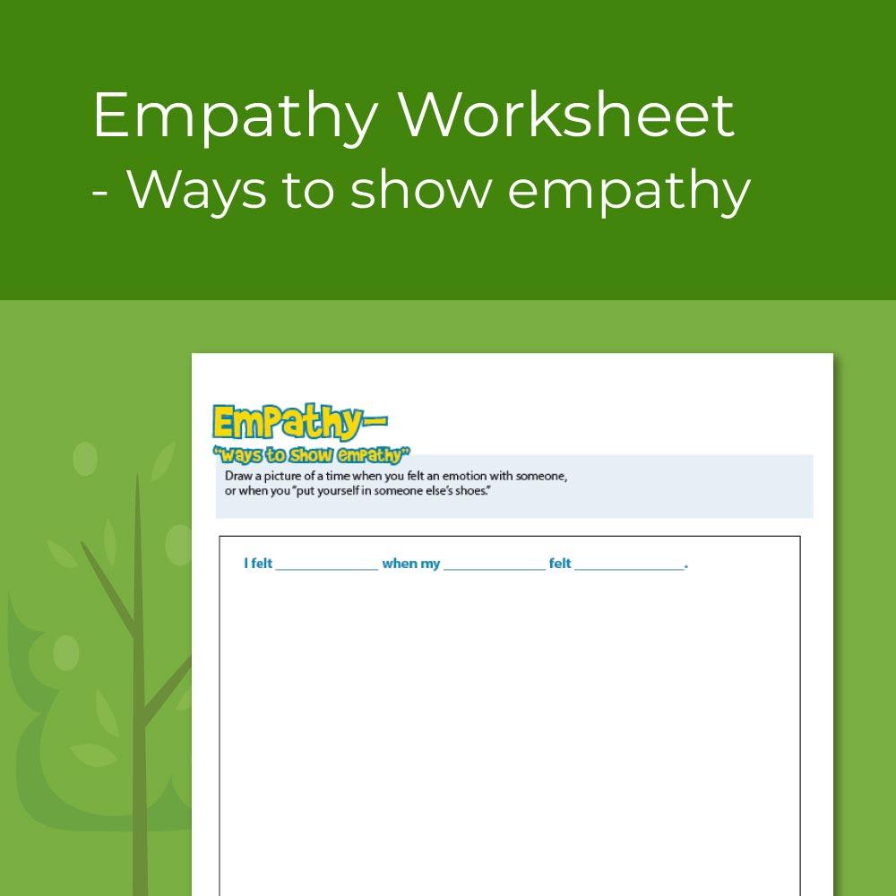 Worksheet on ways to show empathy for elementary social emotional learning