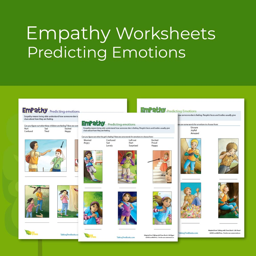 3 Empathy Worksheets for elementary social emotional learning