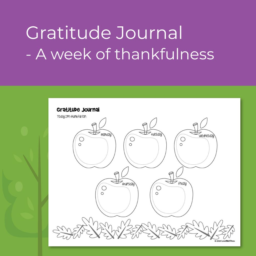 Gratitude and thankfulness worksheet - for elementary social emotional learning