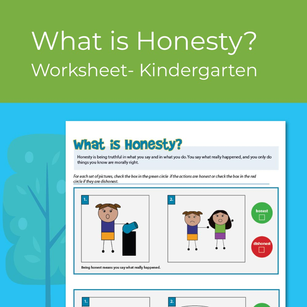 Honesty Worksheet for kindergarten SEL / Character Education