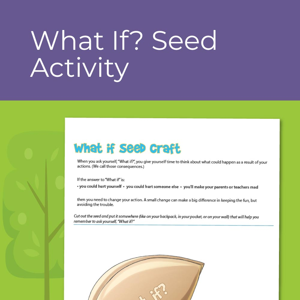 What If Seed Worksheet - for elementary social emotional learning